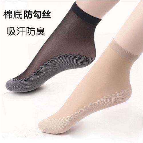 春夏新款 天鹅绒棉底防滑女士丝袜子批发 性感蕾丝花纹短丝袜
