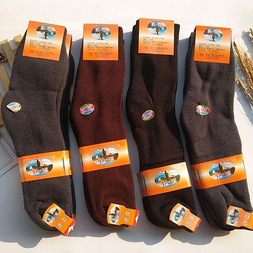 冬季男士超厚毛线袜毛巾袜 加厚加绒超保暖袜子 高筒袜