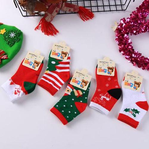 秋冬儿童圣诞袜子批发  卡通可爱 休闲中筒 大中小男女童袜