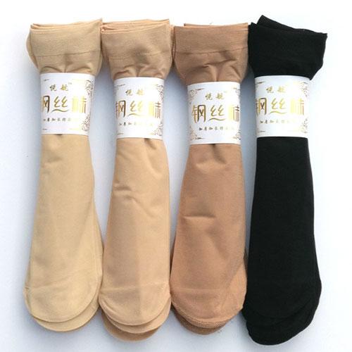 春夏男女通用加长加厚防勾丝钢丝袜子