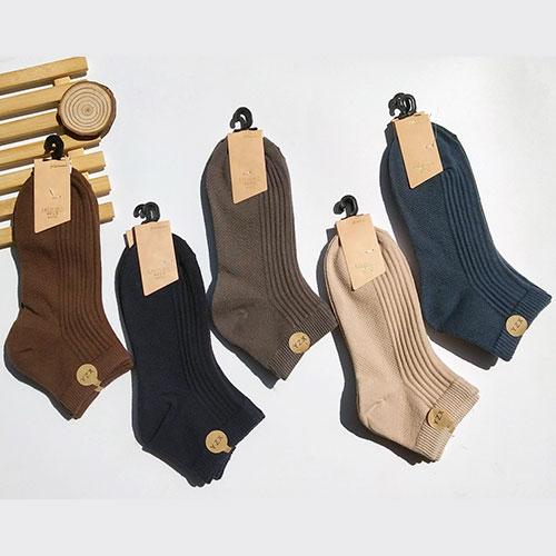 春夏 男士双针纯色素色浅口按摩底船袜子 厂家批发